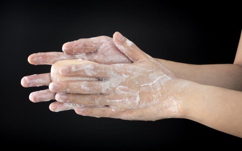 Washhand fotografering för bildbyråer