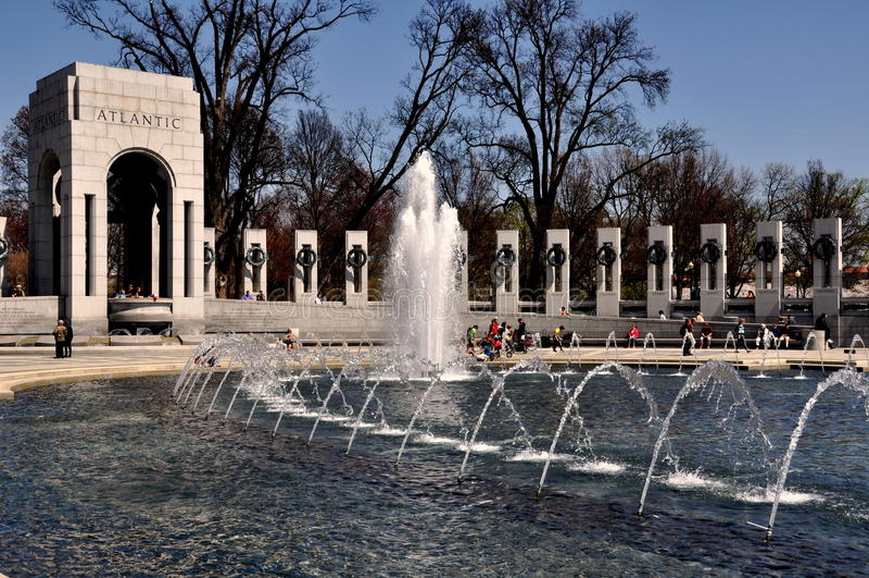 Washignton, C.C : Mémorial de la deuxième guerre mondiale image libre de droits