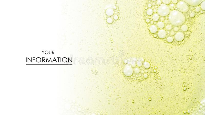 Washing bubbles macro yellow green fatware liquid pattern stock image