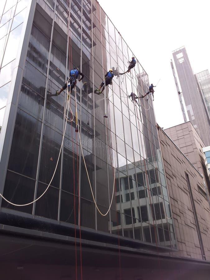 Washing building facade stock photos