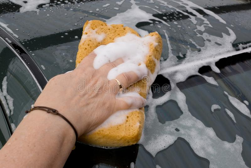 Washing Car stock photos