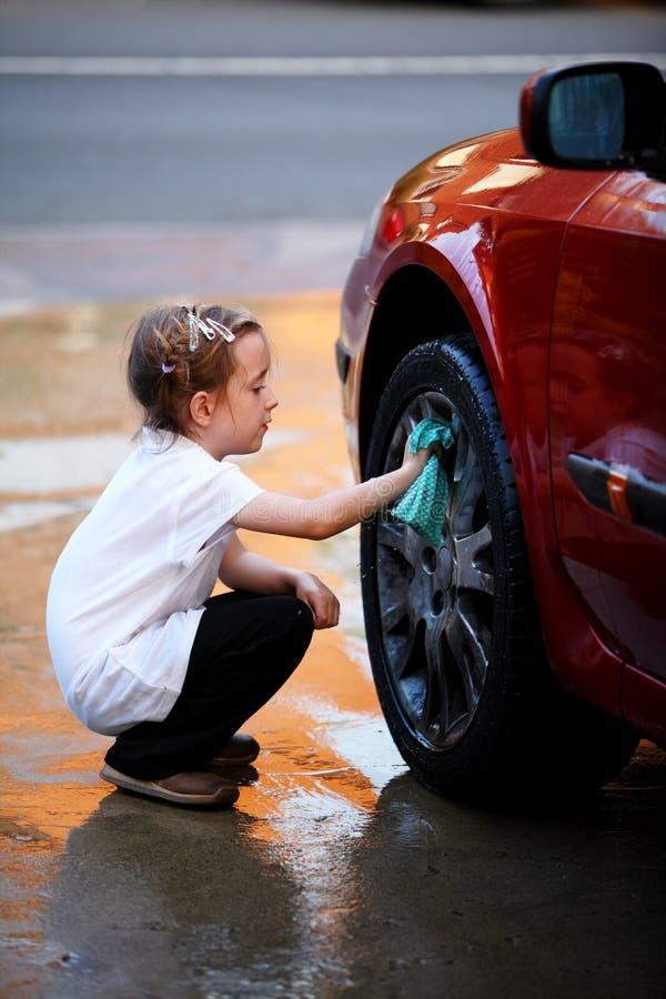 Washing the car stock image