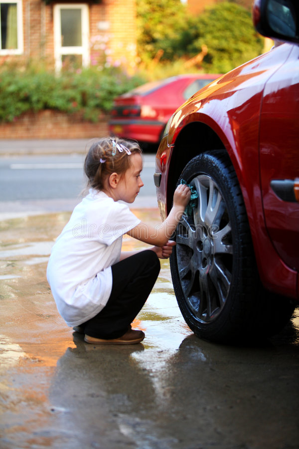 Download Washing the car stock image. Image of shine, girl, cleaning - 3196011