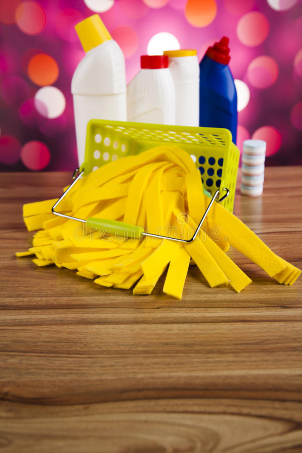 Washing, cleaning stuff, colorful concept.  stock images