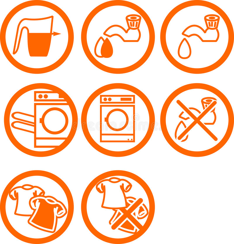 washing clothes icons stock vector illustration of illustrations