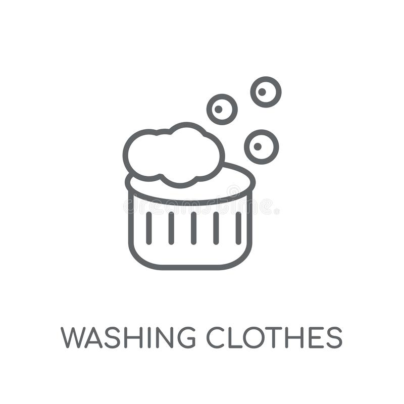 Washing clothes linear icon. Modern outline Washing clothes logo vector illustration
