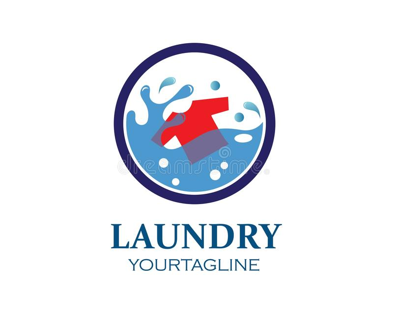 washing clothes logo icon vector of laundry service design vector illustration