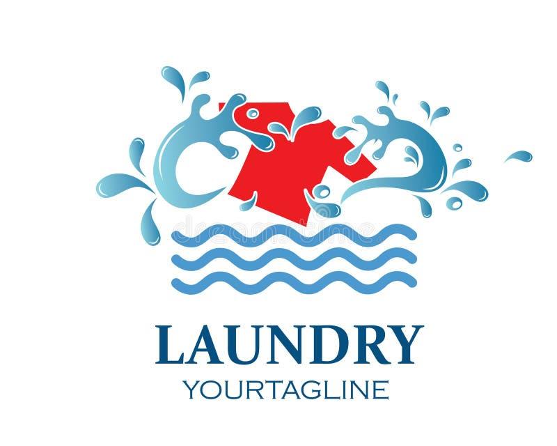 washing clothes logo icon vector of laundry service design stock illustration