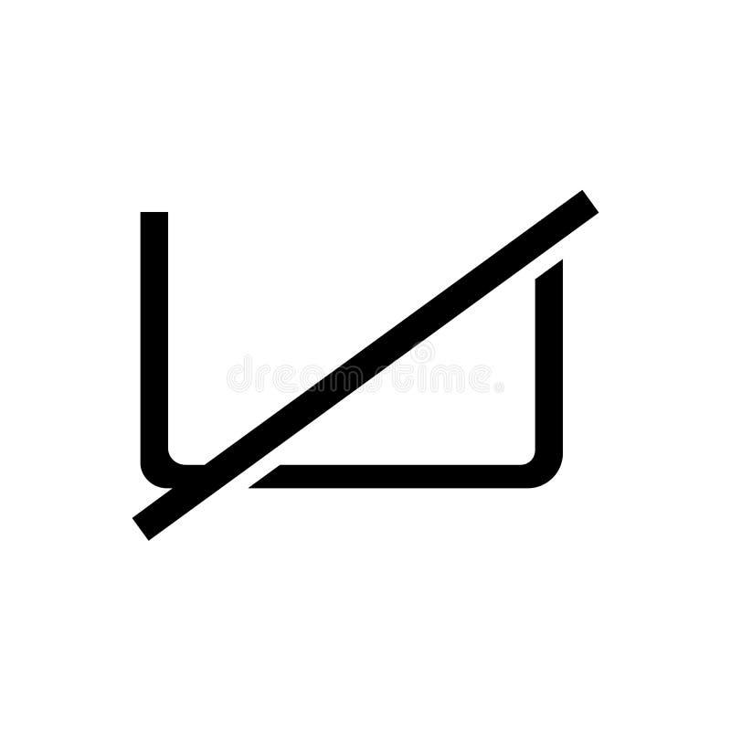 Washing forbidden icon. Washing forbidden symbol icon stock illustration