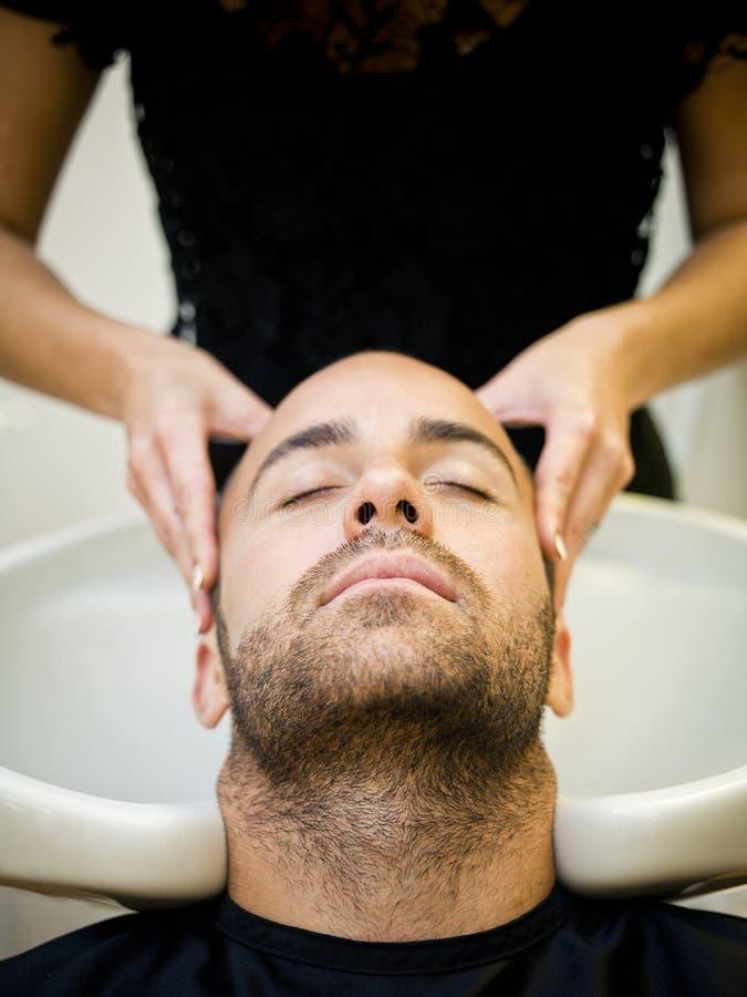 Washing Hair royalty free stock photos