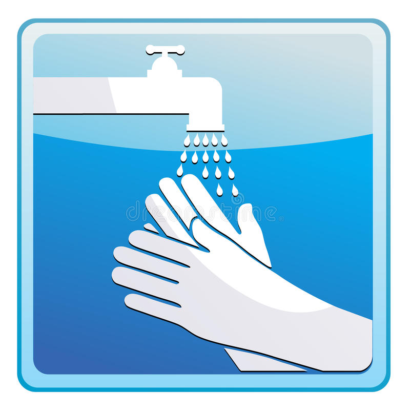 Washing hands royalty free illustration
