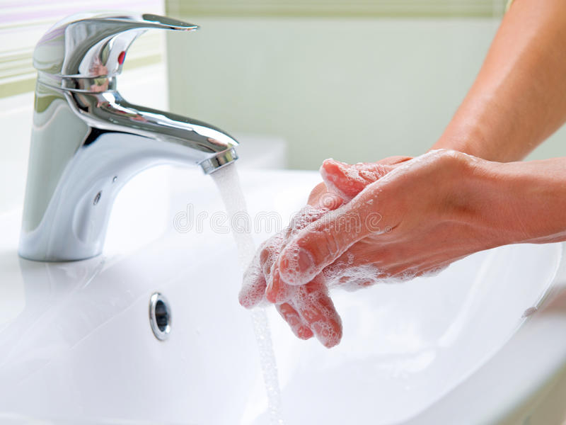 Washing Hands. Cleaning Hands. Hygiene royalty free stock photo