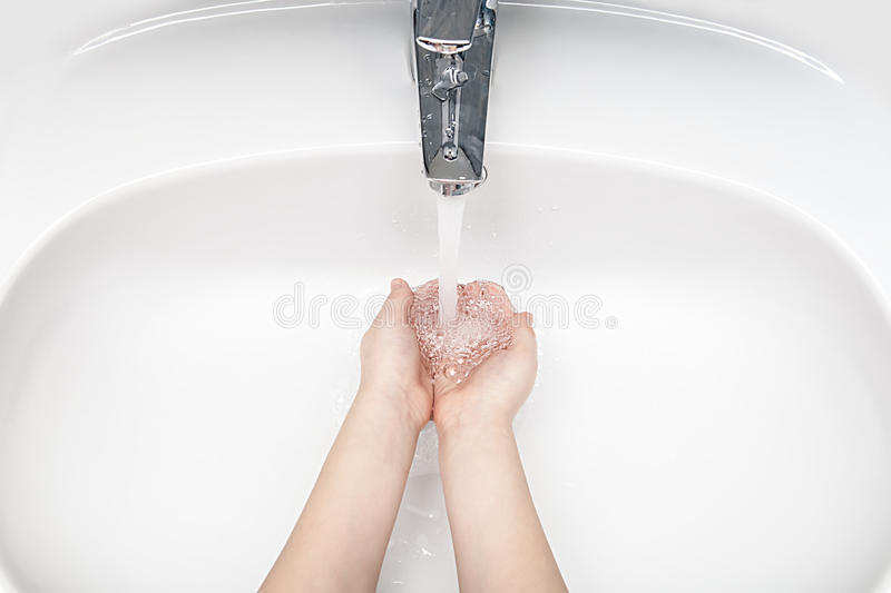 Washing hands royalty free stock image