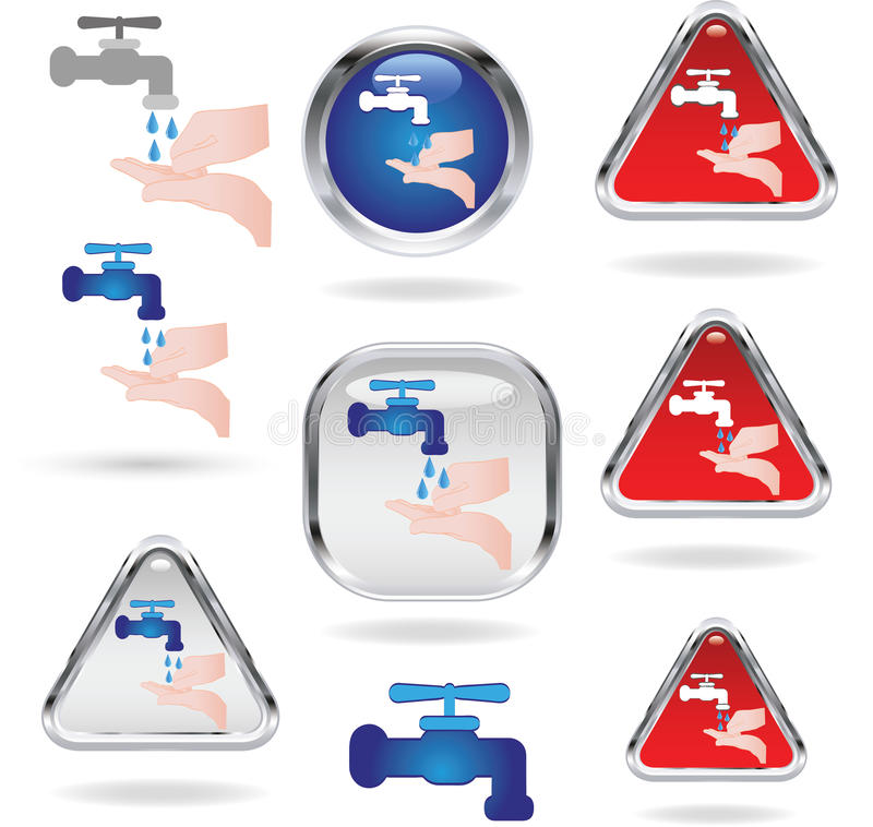 Download Washing hands signs stock vector. Image of human, efficiency - 38142650