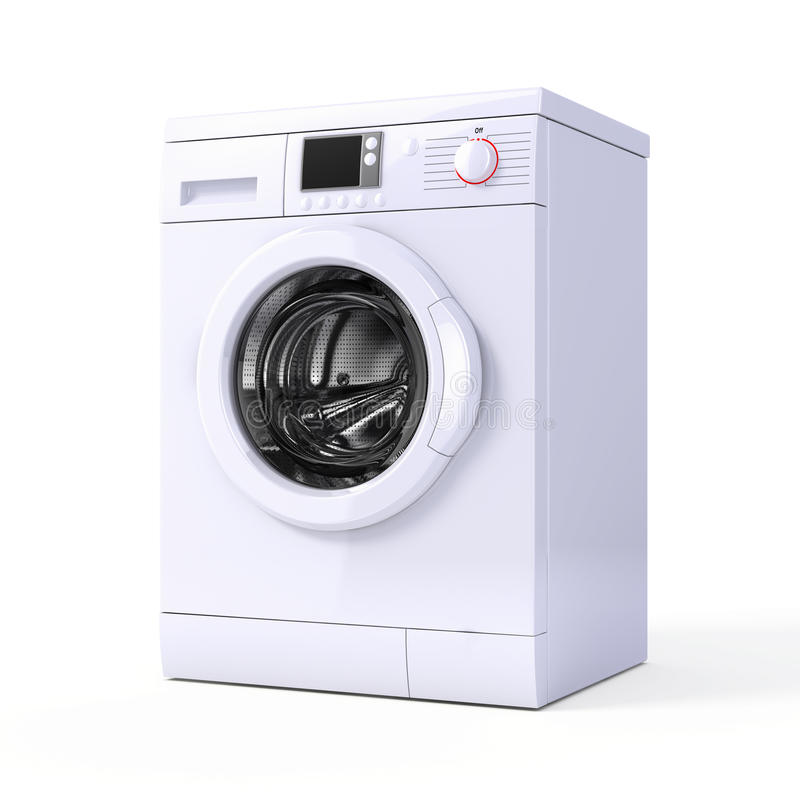 Washing machine. Isolated over white - 3d render