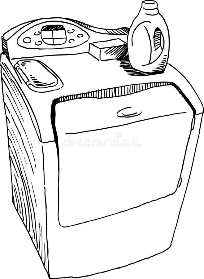 Washing Machine royalty free illustration