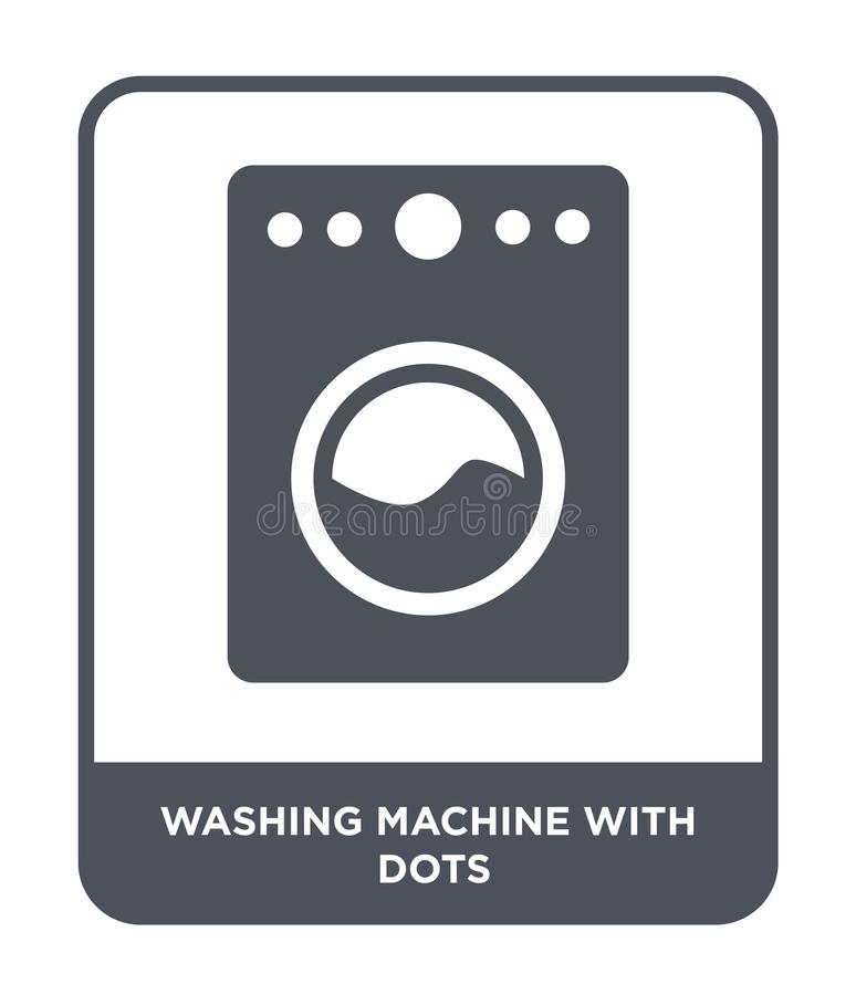 Washing machine with dots icon in trendy design style. washing machine with dots icon isolated on white background. washing. Machine with dots vector icon royalty free illustration