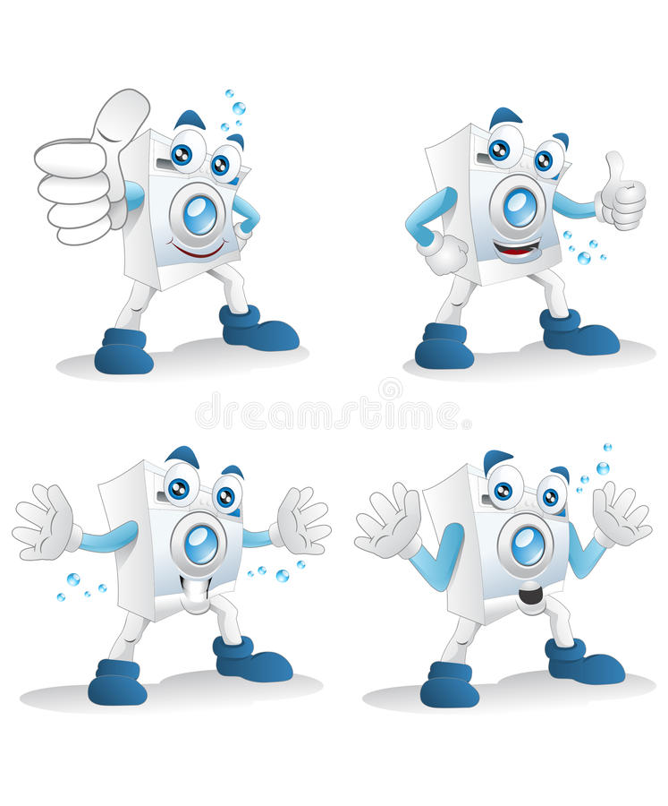 Download Washing machine expression stock illustration. Image of diverse - 32473881