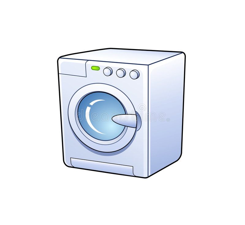 Washing machine icon. Washing machine detailed icon