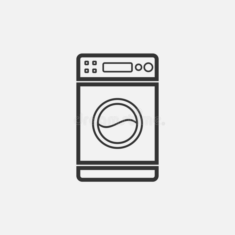 Washing machine icon, electric appliance, electric equipment royalty free illustration