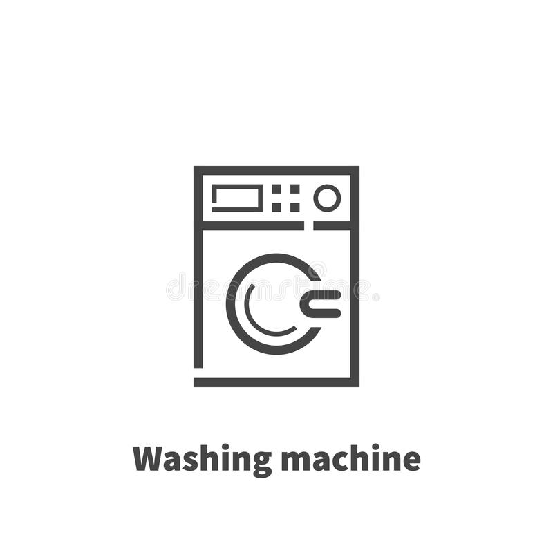 Washing machine icon, vector symbol. Washing machine icon, vector symbol in line style isolated on white background. Editable stroke 48x48 pixel perfect royalty free illustration
