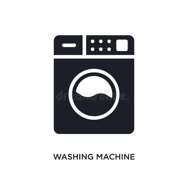 Washing machine isolated icon. simple element illustration from cleaning concept icons. washing machine editable logo sign symbol. Design on white background stock illustration