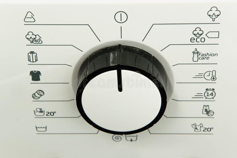Washing machine programs. Different washing machine programs - white background stock photography