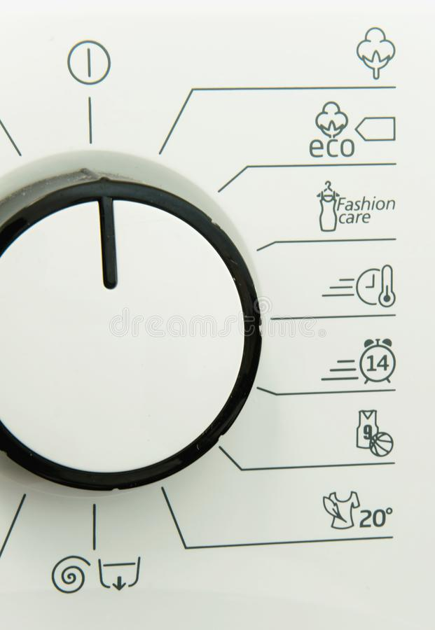 Washing machine programs. Space for text royalty free stock photos