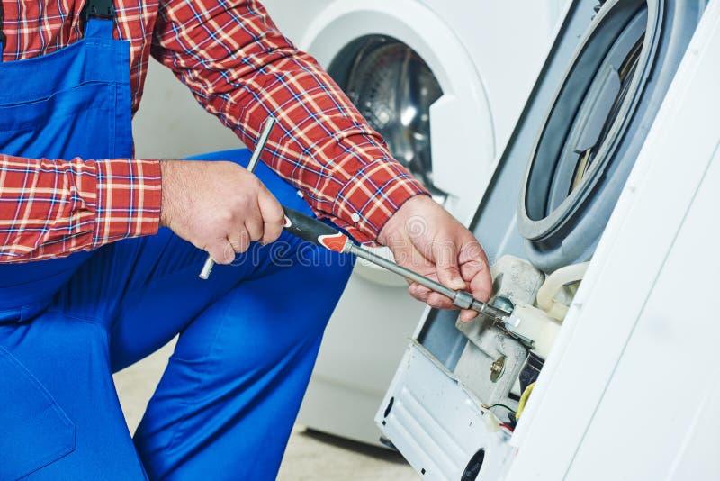 Washing machine repair stock photography
