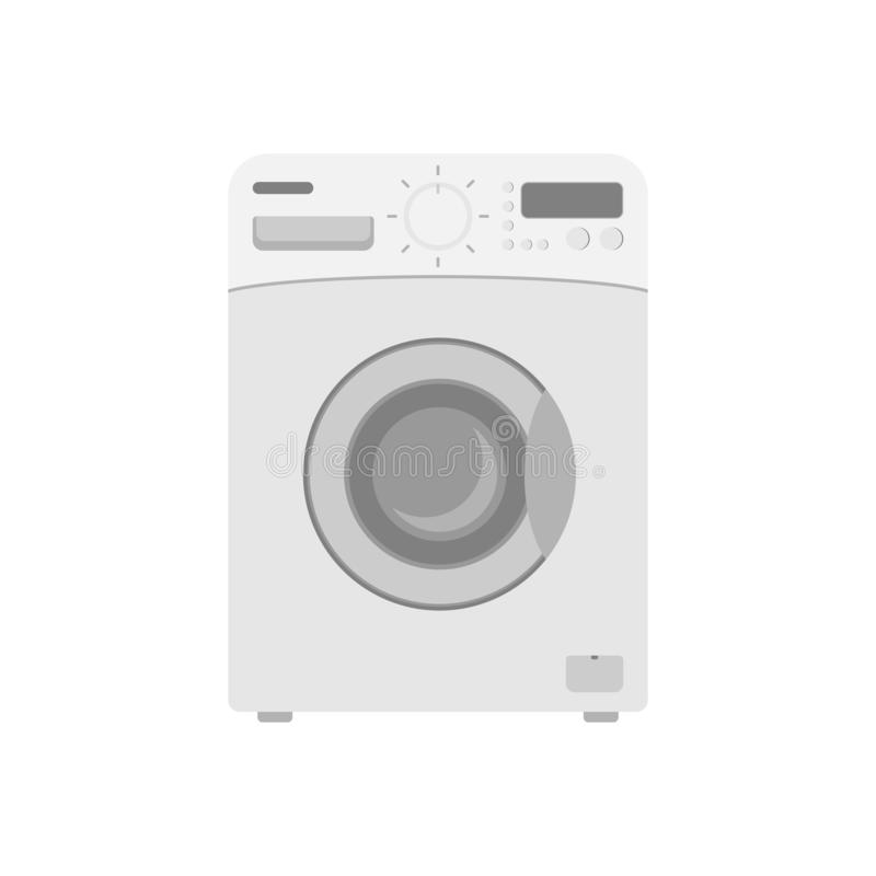 Washing machine. Vector drawing. Icon. Power off royalty free illustration
