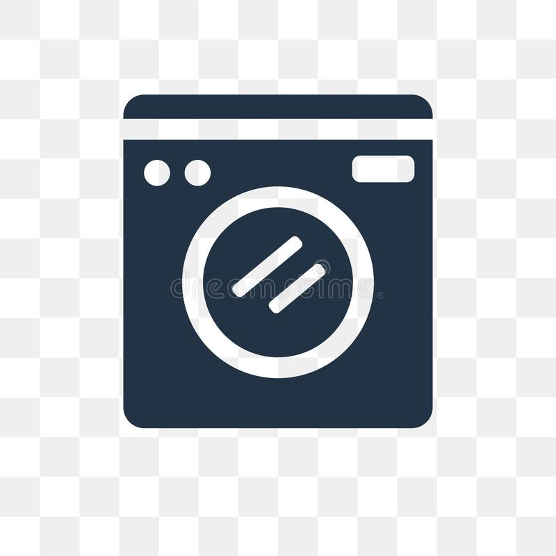Washing machine vector icon isolated on transparent background,. Washing machine transparency concept can be used web and mobile, Washing machine icon royalty free illustration