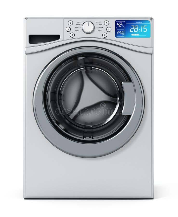 Washing machine on white background. 3D illustration royalty free illustration