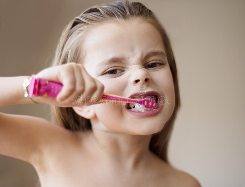 Washing my teeth to a healthy smile royalty free stock images
