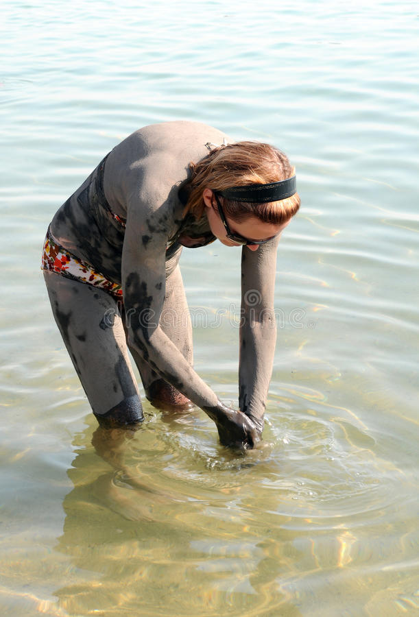 Download Washing off Dead Sea Mud stock image. Image of nature - 17127385