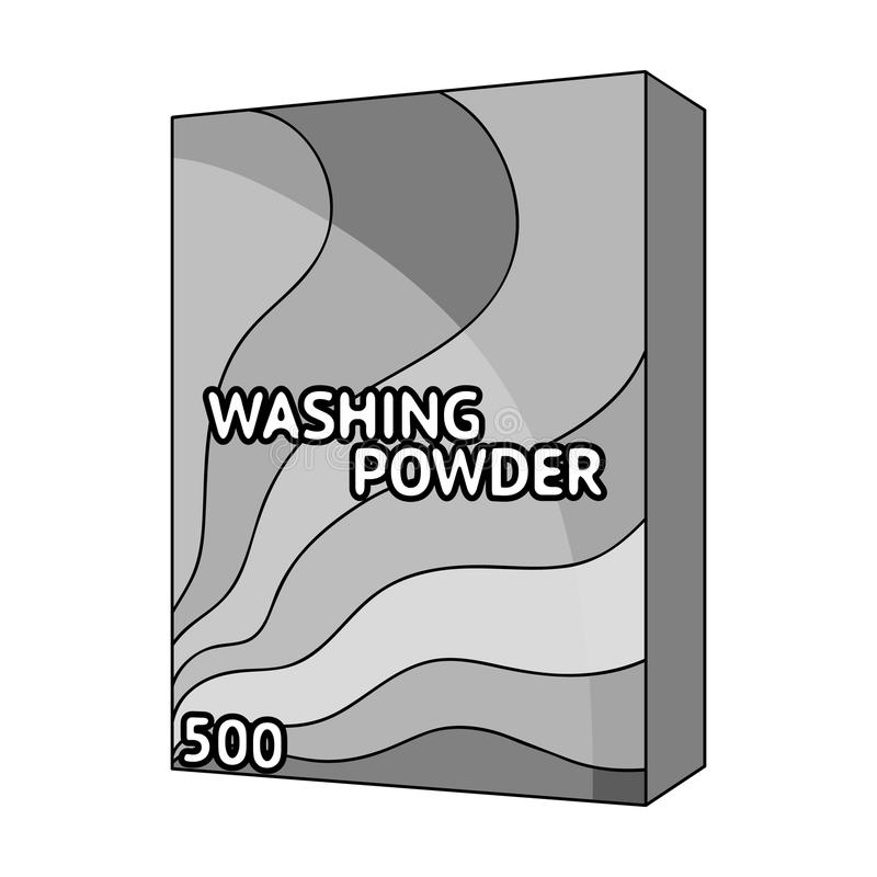 Washing Powder Dry Cleaning Single Icon In Outline Style Vector