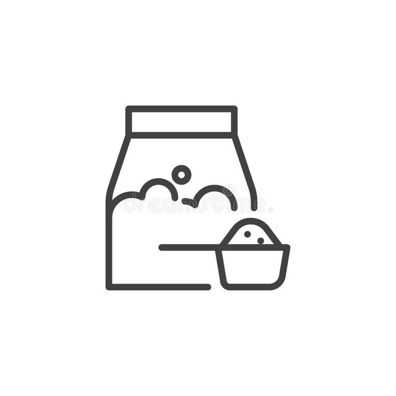 Washing powder line icon vector illustration