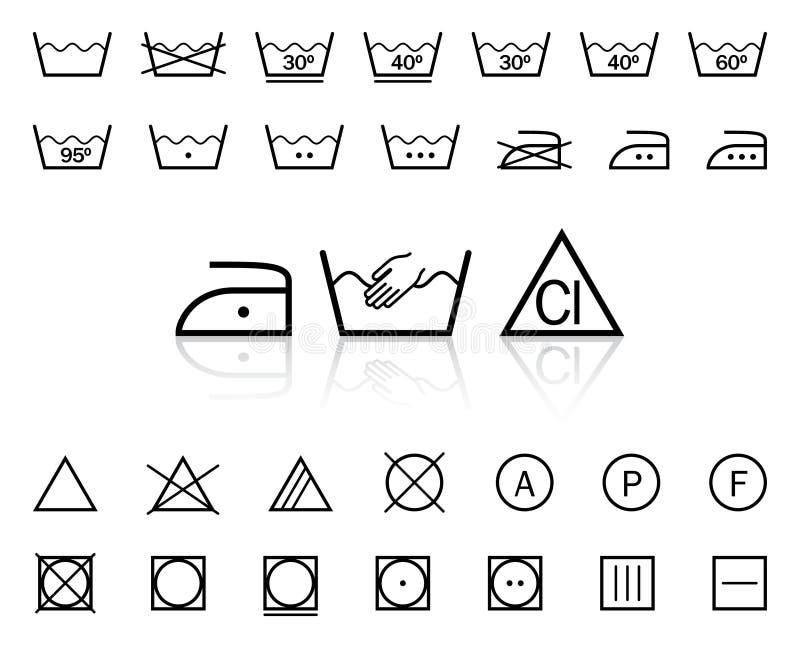 Washing signs stock illustration  Illustration of symbol