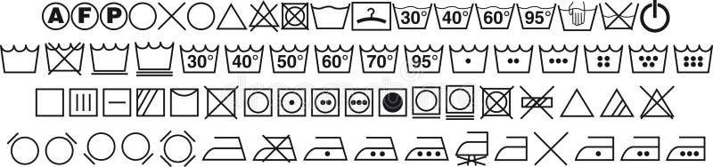 Washing symbols stock illustration