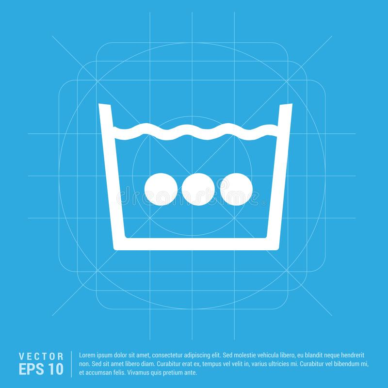 WashingSymbol symbol royaltyfri illustrationer