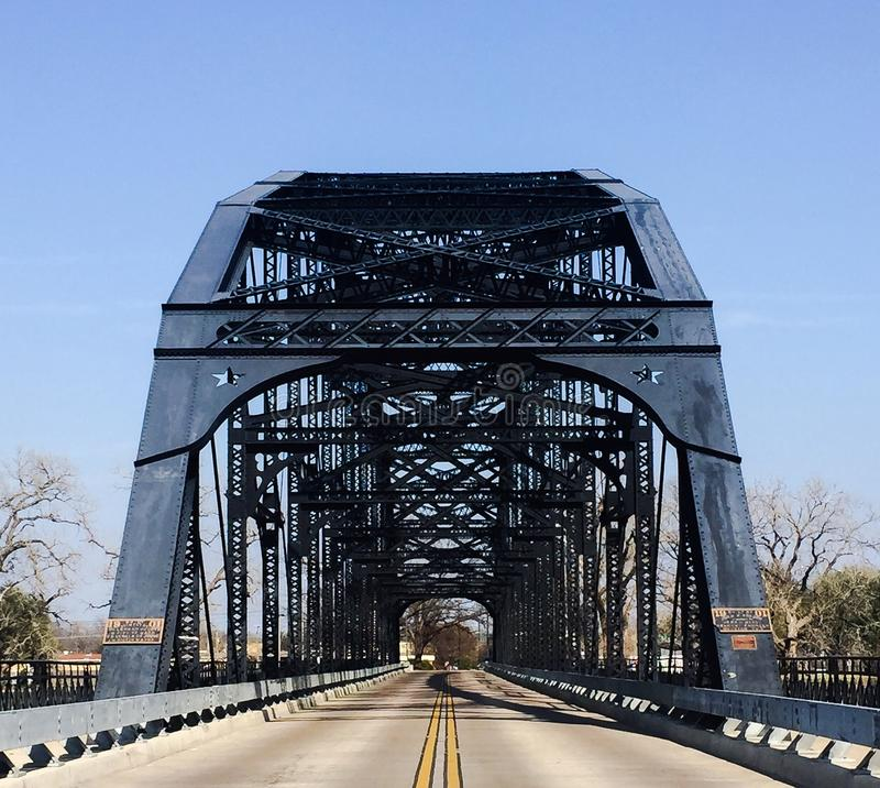 Washington Avenue Bridge in Waco Texas royalty-vrije stock foto's