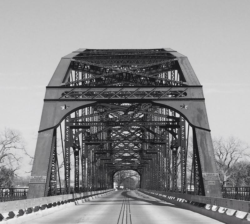 Washington Avenue Bridge in Waco Texas stock photo