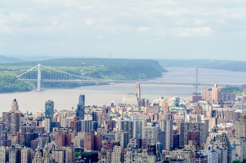 Washington Bridge, NYC lizenzfreie stockbilder