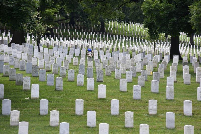 Washington, C.C. - 1º de junho de 2018: Cemitério nacional de Arlington imagem de stock