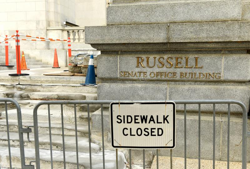 Washington, C.C. - 31 de maio de 2018: Russell Senate Office Building dentro imagens de stock