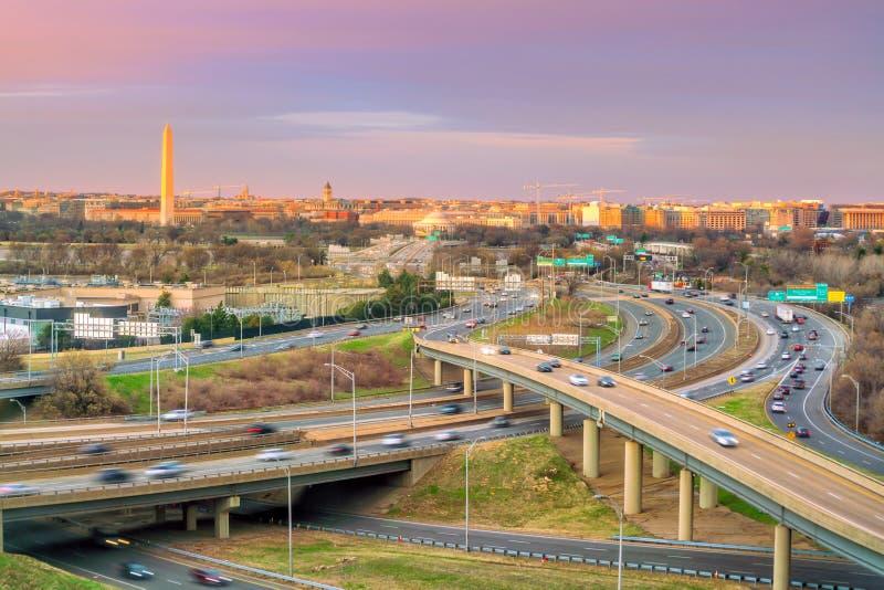 Washington, C C Horizonte de la ciudad imagen de archivo libre de regalías