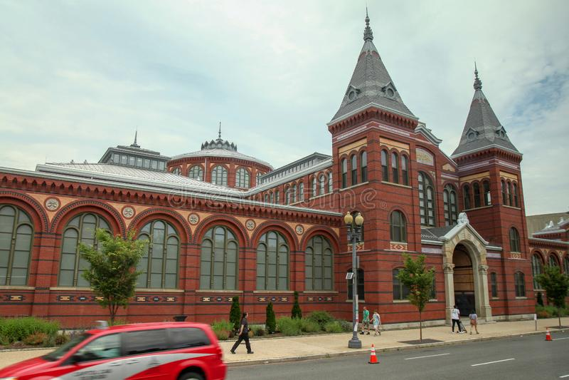 Washington, C.C-juin 14,2018 : La vue des arts et de la construction d'industries des musées de Smithsonien est musée célèbre en  photo libre de droits