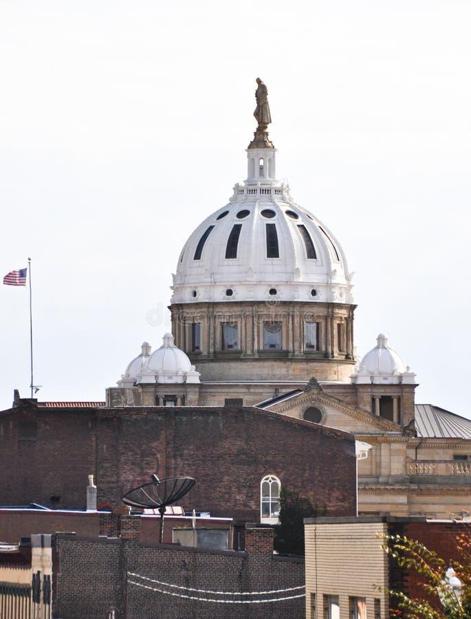 Washington County Courthouse in Pensilvania immagine stock libera da diritti