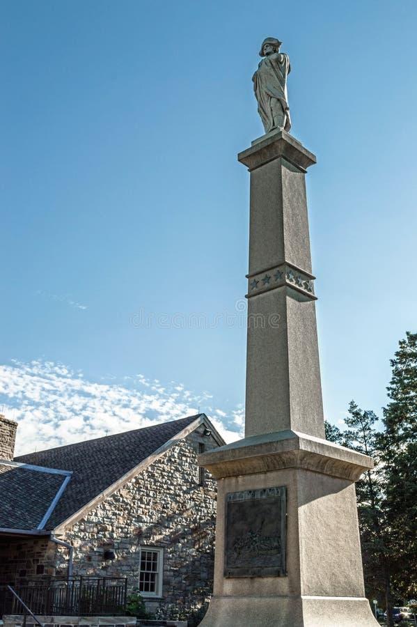 Washington Crossing Monument royalty free stock image