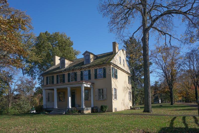 Washington Crossing, Pennsylvania: Mahlon K Taylor House fotografering för bildbyråer