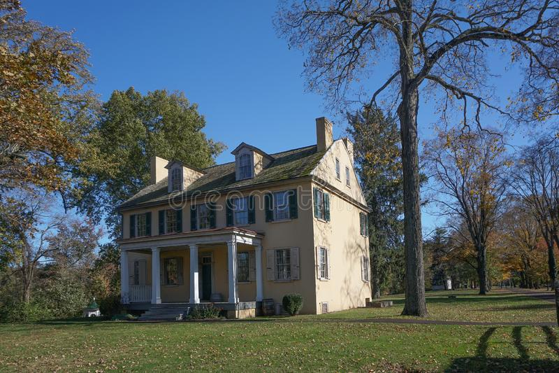 Washington Crossing, Pennsylvania: Mahlon K. Taylor House. Washington Crossing, PA: Mahlon K. Taylor House c. 1817, home of a founder of Taylorsville, now known stock image